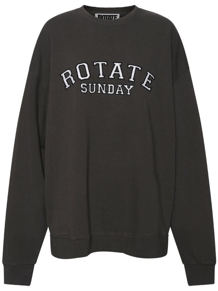 ROTATE Sunday Capsule Jersey Iris Sweatshirt in black