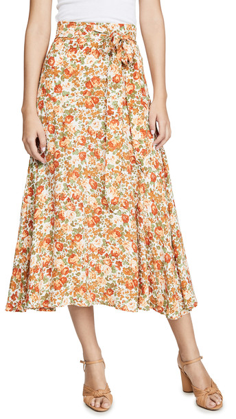 FAITHFULL THE BRAND Asiya Skirt in rose / print