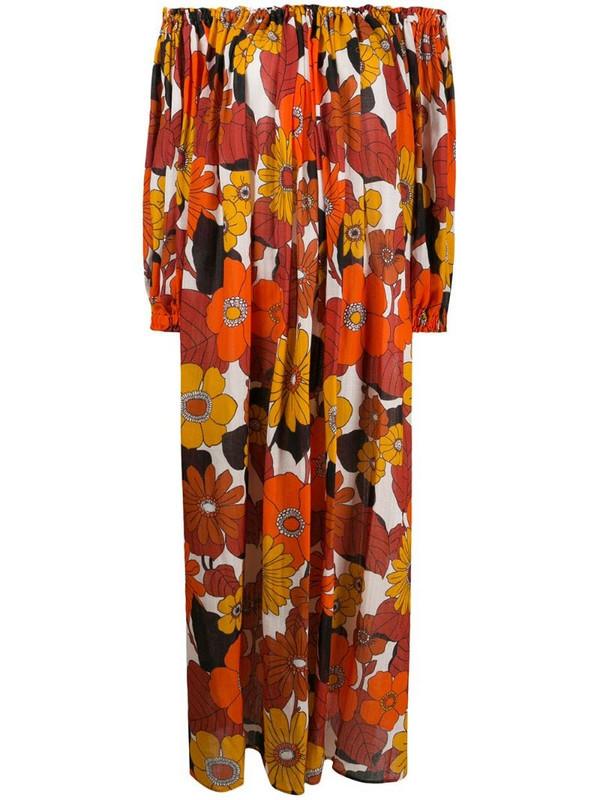 Dodo Bar Or flared off-the-shoulder maxi dress in orange