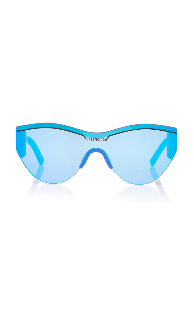 Balenciaga Sunglasses Cat-Eye Acetate And Nylon Sunglasses in blue