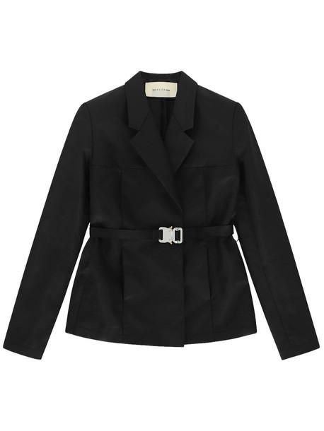 1017 ALYX 9SM Recycled Coated Nylon Buckle Blazer in black