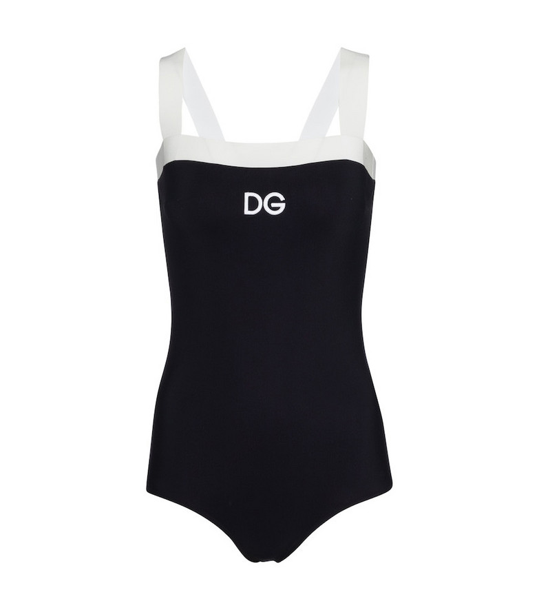 Dolce & Gabbana Logo swimsuit in black