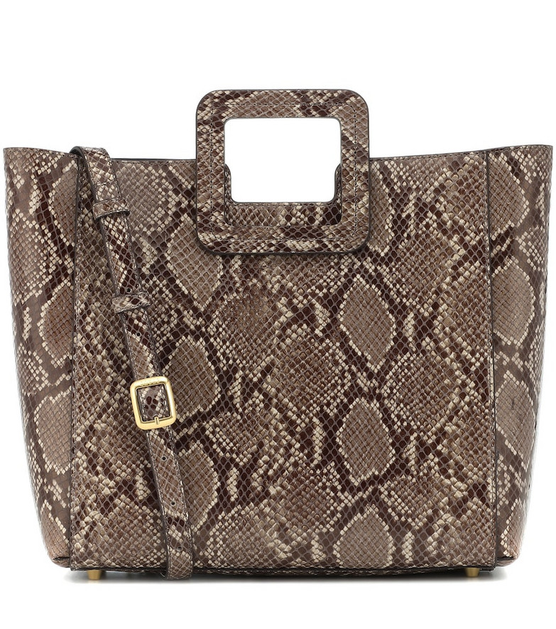 Staud Shirley snake-effect leather tote