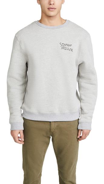 Simon Miller Long Sleeve Crew Neck Sweatshirt in grey
