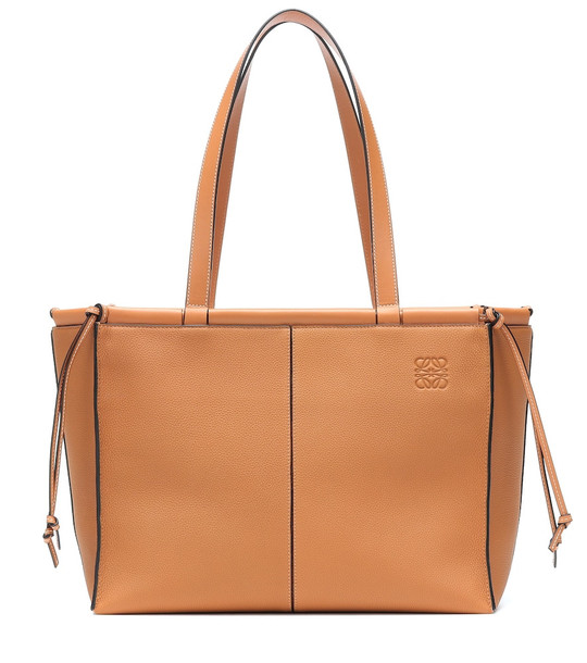 Loewe Cushion leather tote in brown