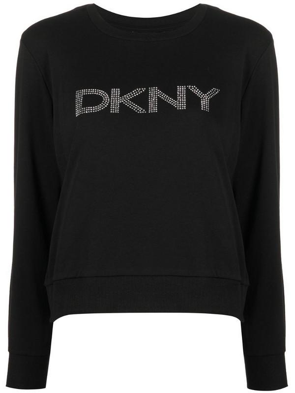 DKNY logo-detail sweatshirt in black