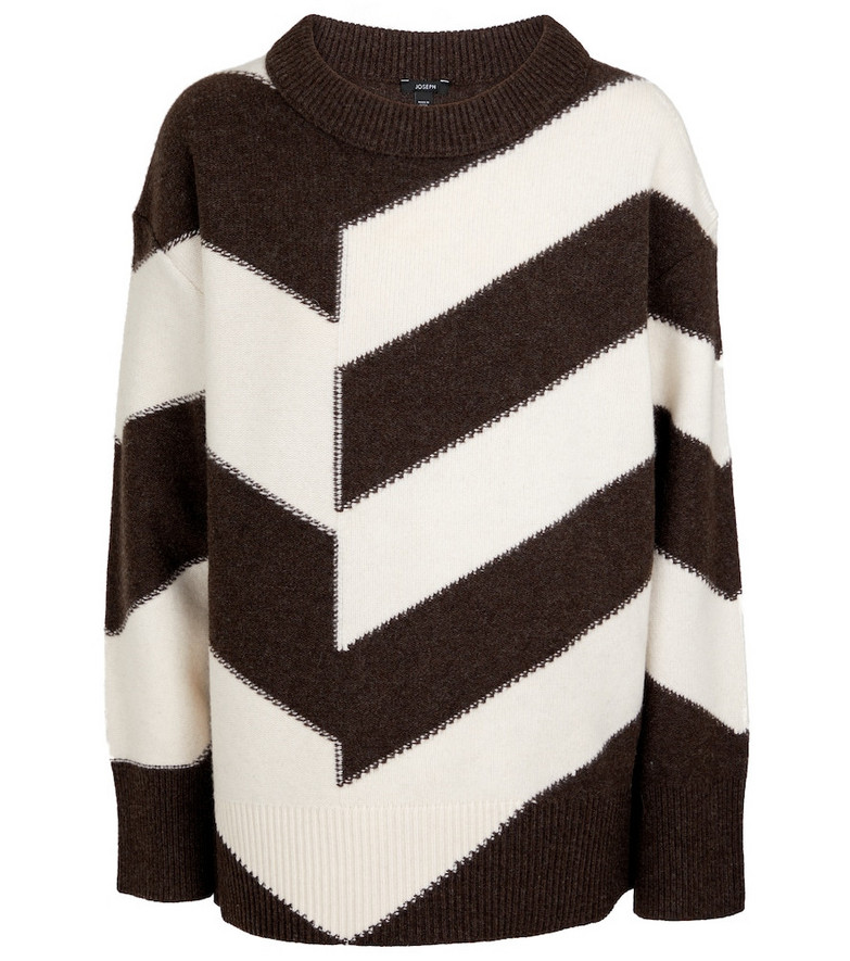 JOSEPH Chevron wool sweater