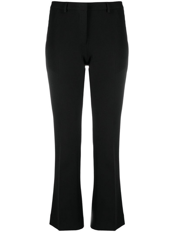 Pt01 cropped flared tailored trousers in black