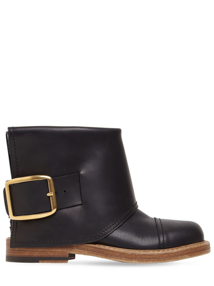 ALEXANDER MCQUEEN 20mm Leather Ankle Boots in black