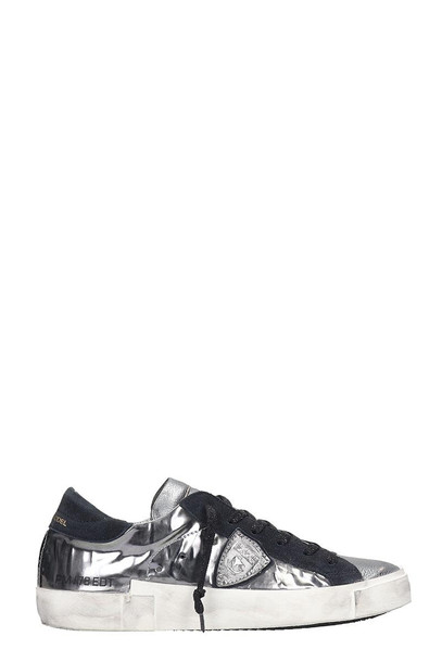 Philippe Model Prsx Sneakers In Silver Leather