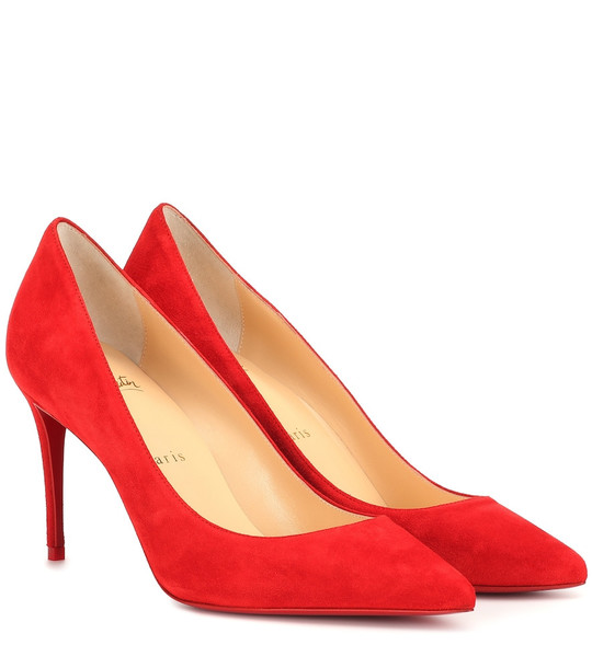 Christian Louboutin Kate 85 suede pumps in red
