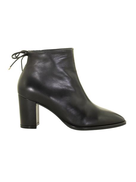 Stuart Weitzman Gardiner Leather Boots in black