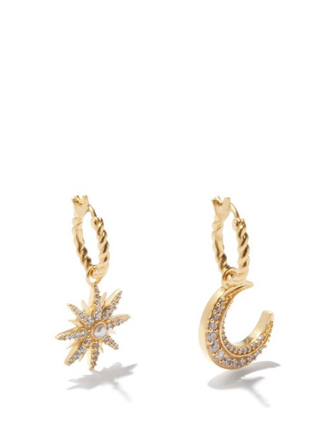 Missoma X Harris Reed - Mismatched Celestial 18kt Gold-plated Earrings - Womens - Gold