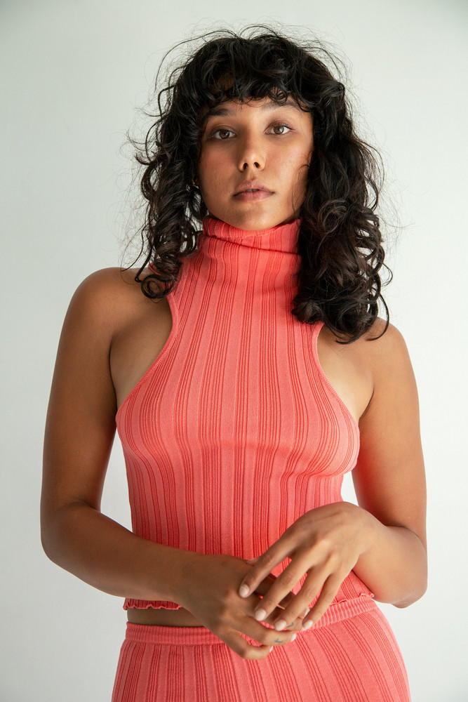 The Line by K ETTA TURTLENECK ELECTRIC CORAL