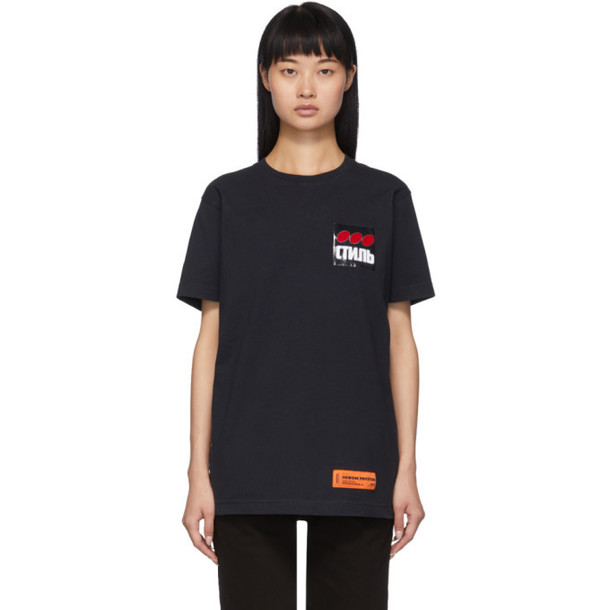 Heron Preston Black Dots Style T-Shirt