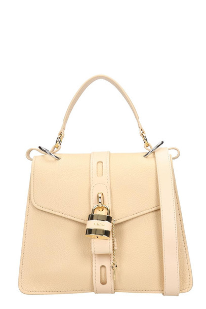 Chloé Chloé Aby Shoulder Bag In Beige Leather