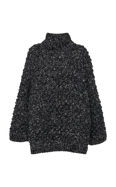 Dolce & Gabbana Ribbed-Trim Turtleneck in grey