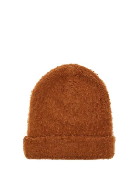 Acne Studios - Peele Wool Blend Beanie Hat - Womens - Brown
