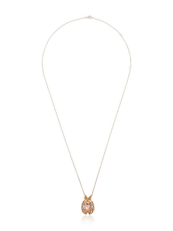 Yvonne Léon 18k gold pineapple necklace with pearl in metallic