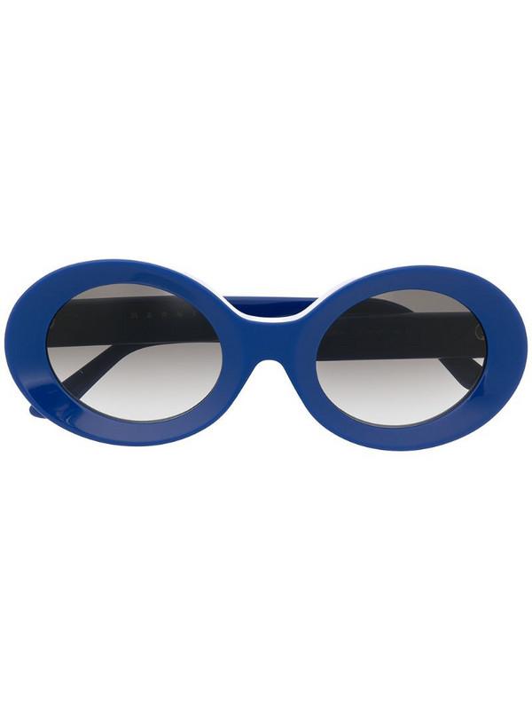 Marni Eyewear oval-frame sunglasses in blue