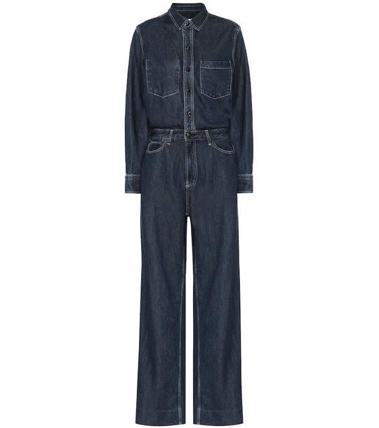 Rag & Bone All in One denim jumpsuit in blue