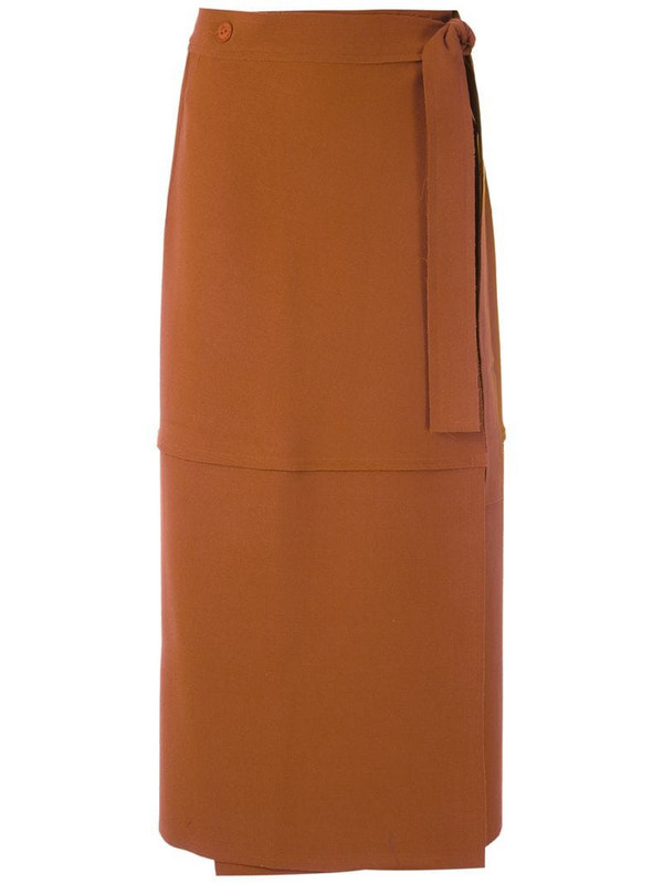 LE SOLEIL D'ETE Giusepina midi skirt in brown