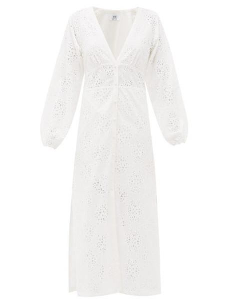 Sir - Celeste Broderie Anglaise Cotton Midi Dress - Womens - Ivory
