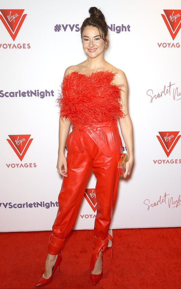 top feathers feather top strapless shailene woodley celebrity pants