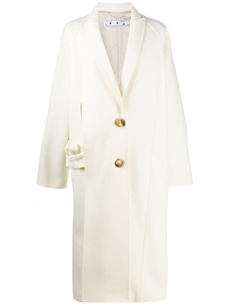 Off-White cut-out overcoat in neutrals