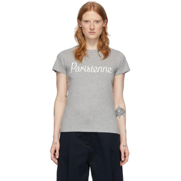 Maison Kitsune Grey Parisienne T-Shirt