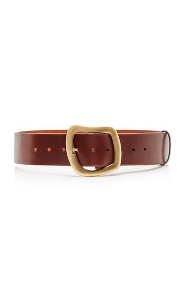 Gabriela Hearst Simone Leather Belt in burgundy