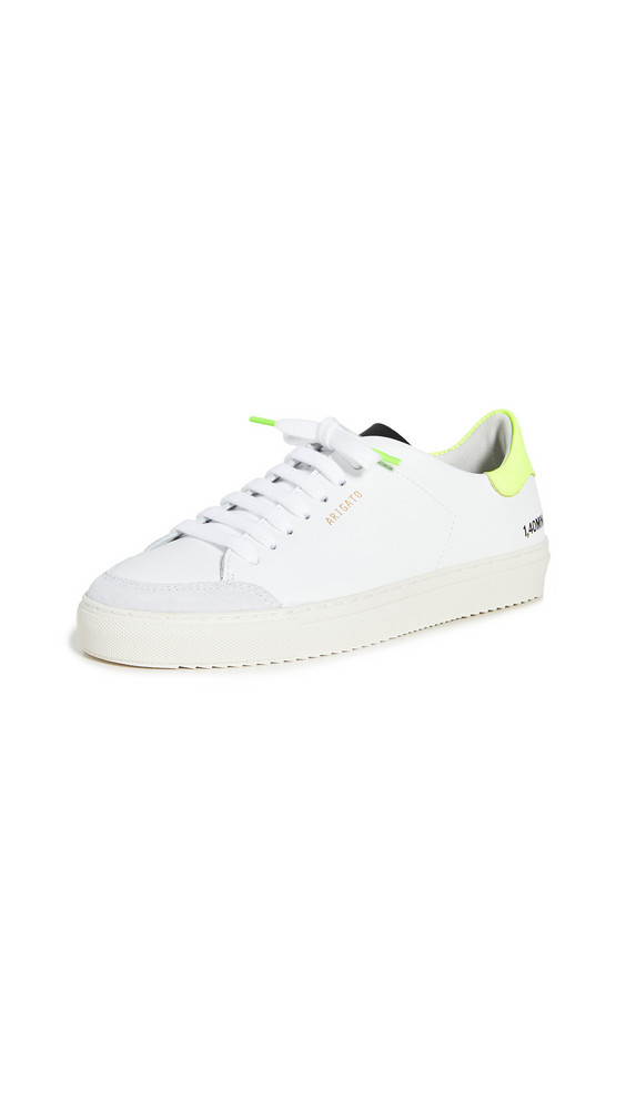 Axel Arigato Clean 90 Triple Sneakers in white / yellow