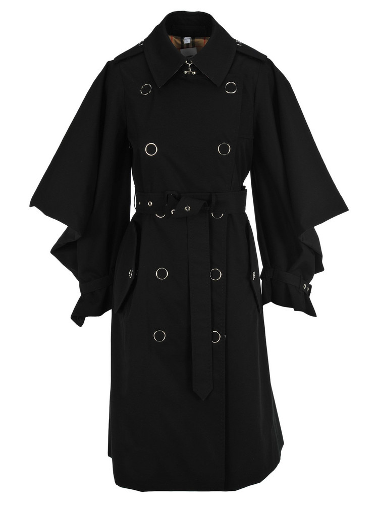 Burberry London Burberry Cape Sleeve Trench Coat in black