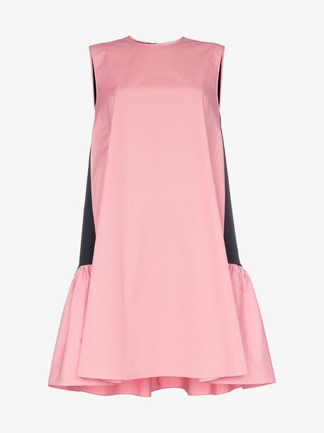Roksanda Fuji contrast sleeveless cotton poplin dress