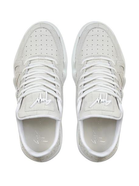 Giuseppe Zanotti crocodile effect sneakers in grey