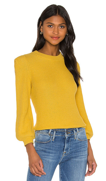 FRAME Chunky Sweater in Mustard