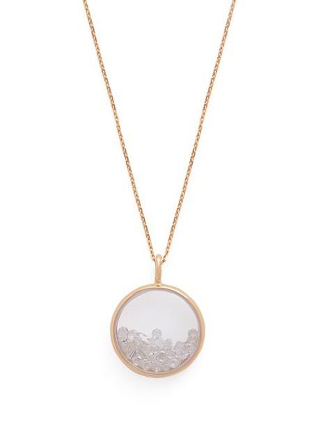 Aurélie Bidermann Fine Jewellery - Chivor 18kt Gold And Diamond Medallion Necklace - Womens - Crystal