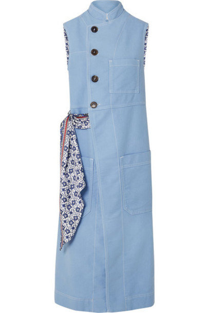 Chloé Chloé - Cotton And Silk Vest - Light blue