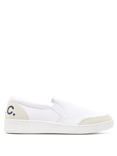 A.P.C. A.p.c. - Coleen Slip On Canvas Trainers - Womens - White
