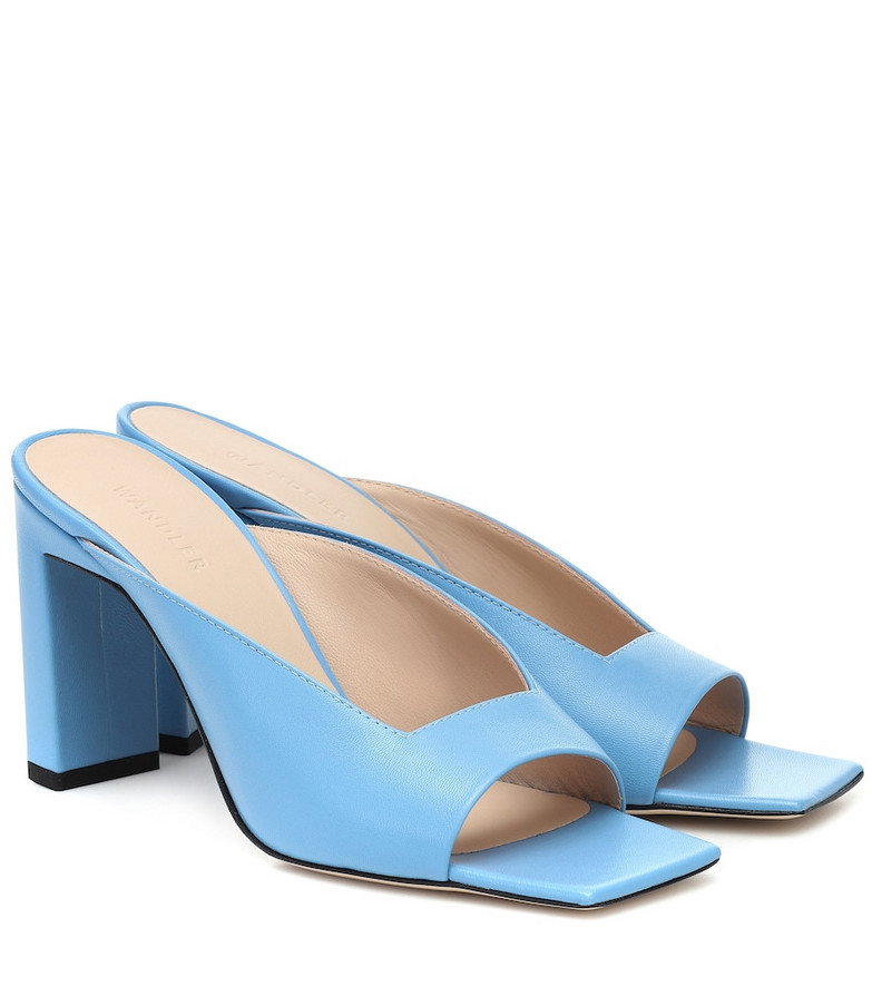 Wandler Isa leather sandals in blue