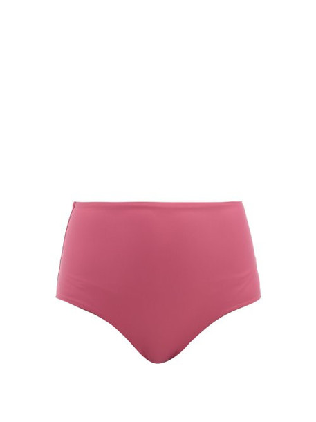 Casa Raki - Ana High Rise Bikini Briefs - Womens - Dark Pink