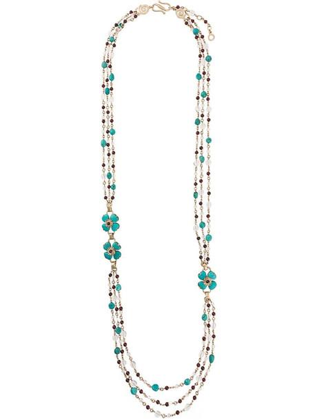 Goossens Trèfle sautoir necklace in metallic