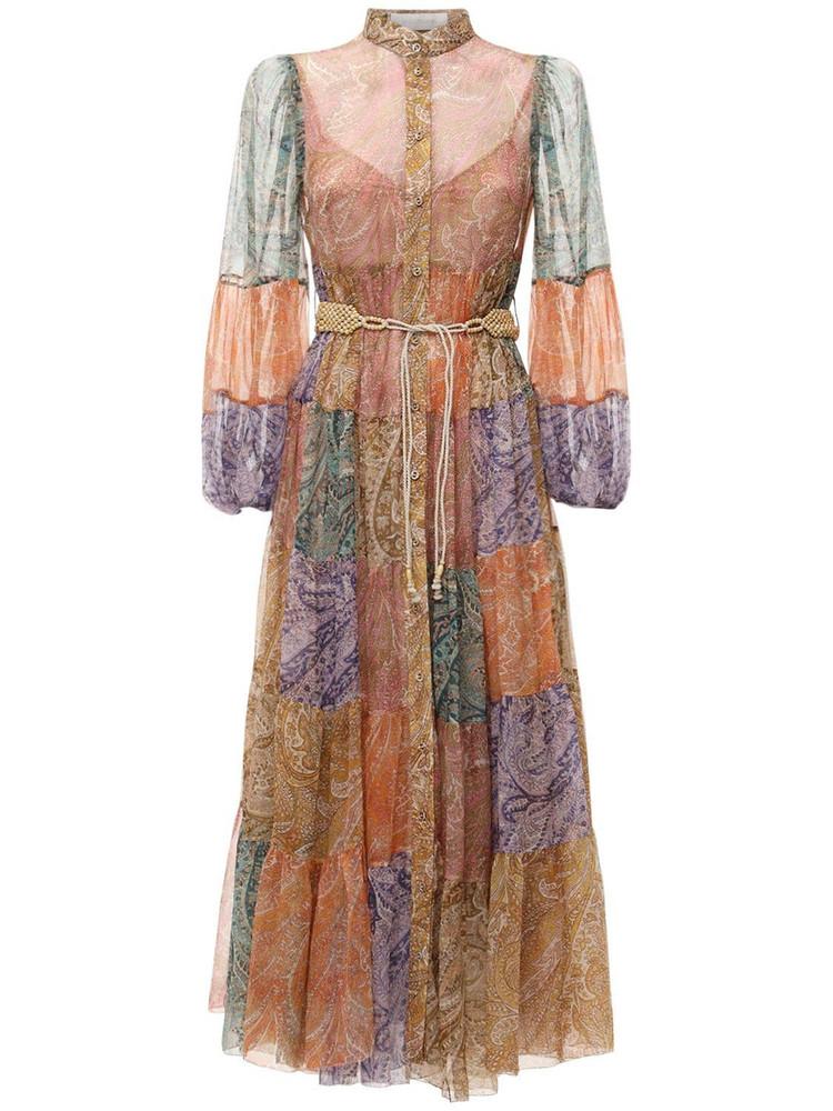 ZIMMERMANN Brighton Hanky Hem Chiffon Midi Dress