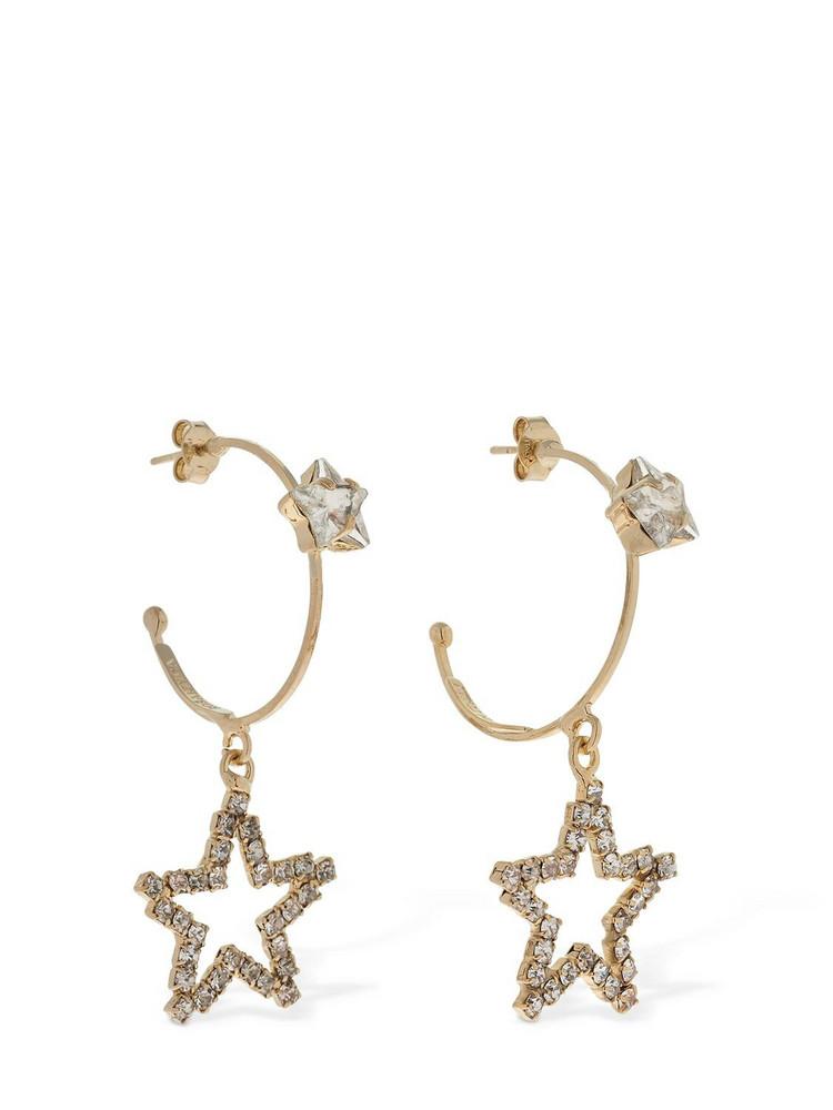 ROSANTICA Milky Way Crystal Hoop Earrings in gold