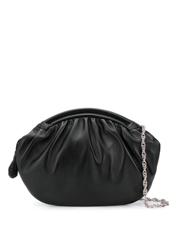Rodo zipped oversized clutch in black