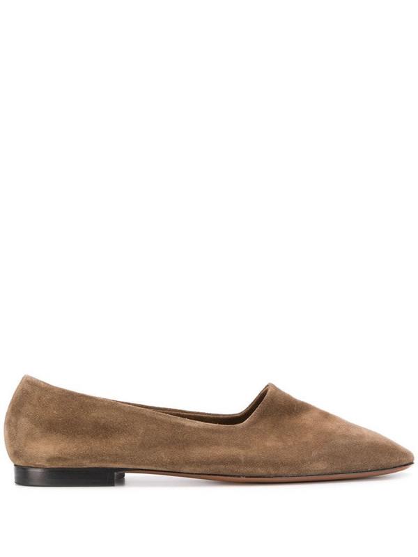 ATP Atelier Andrano square toe loafers in black