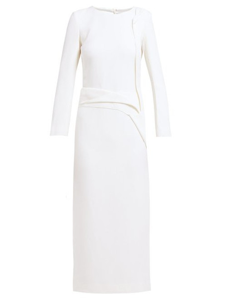 Carl Kapp - Nectar Folded Panel Wool Midi Dress - Womens - White