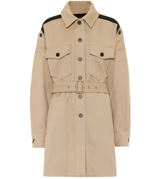 See By Chloé Cotton-blend coat in beige