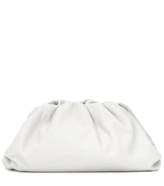 Bottega Veneta The Pouch leather clutch in white