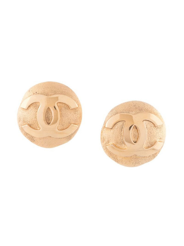 Chanel Pre-Owned 2002 CC button earrings in gold